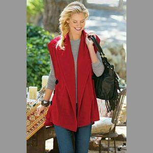 Soft Surroundings Mesa Shawl Neck Button Vest S